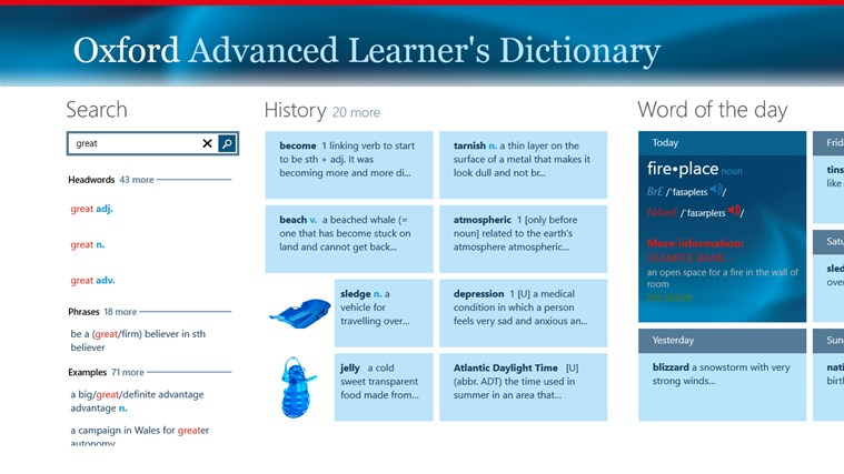 Oxford Advanced Learner's Dictionary, 8th edition Screenshot 0