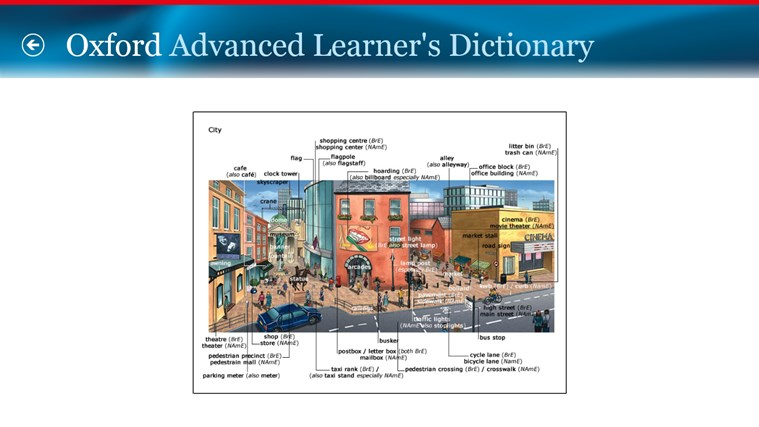 Oxford Advanced Learner's Dictionary, 8th edition screen shot 2