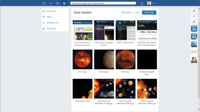 Edmodo screen shot 2