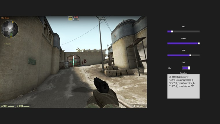 how to make the best crosshair in cs go