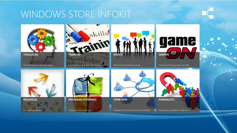 Windows Store Infokit screen shot 0