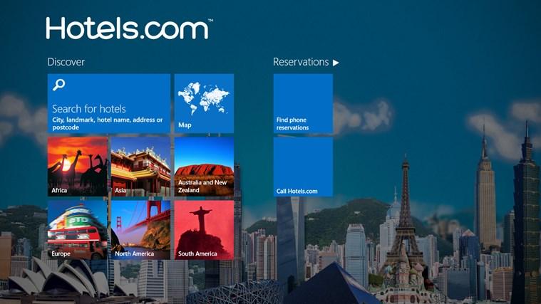 Hotels.com schermafbeelding 0