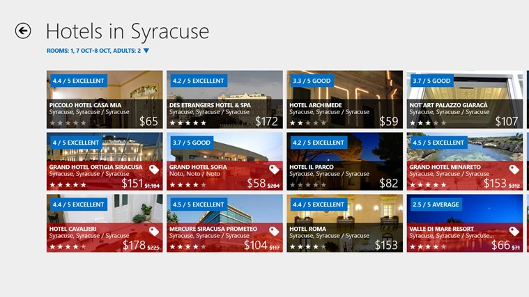 Hotels.com screen shot 2