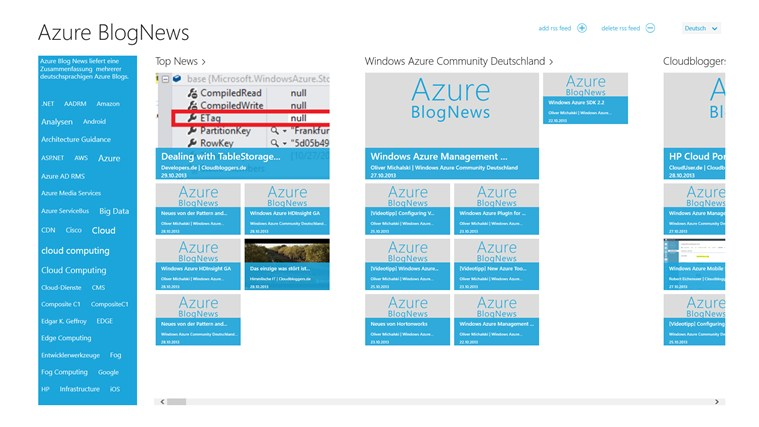 Azure BlogNews Screenshot 0