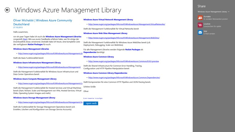 Azure BlogNews Screenshot 2