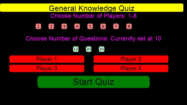 Family General Knowledge Quiz screen shot 0
