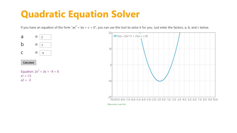 Quadratic Equation Solver captura de pantalla 0