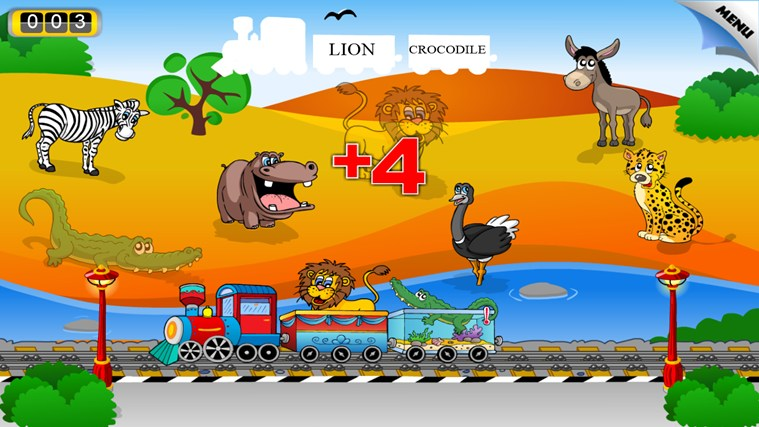 Animal Train - First Word screen shot 6