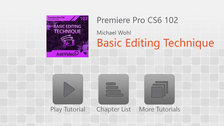 Premiere Pro CS6 - Basic Editing ภาพหน้าจอ 0
