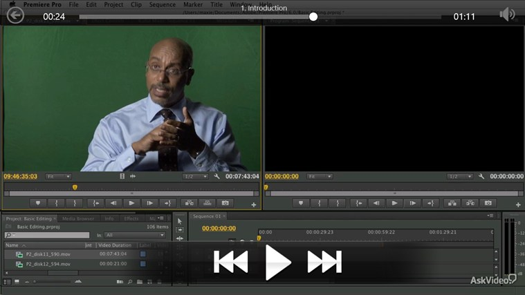 Premiere Pro CS6 - Basic Editing ภาพหน้าจอ 2