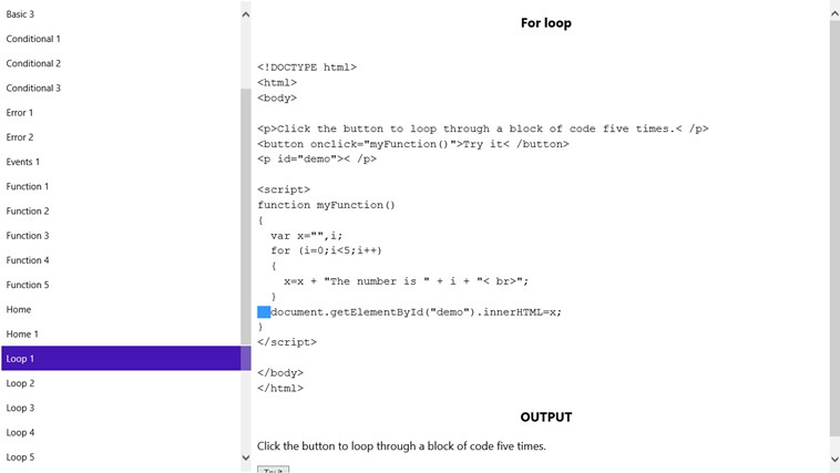 JavaScript Programs screenshot 2