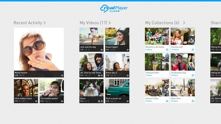 RealPlayer Cloud screen shot 0