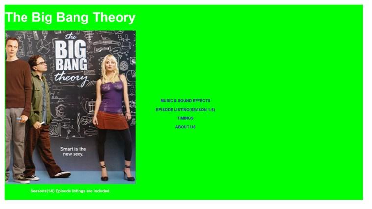 Big Bang Theory screen shot 0