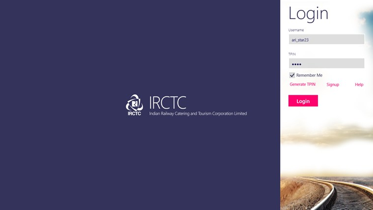IRCTC Official screen shot 0