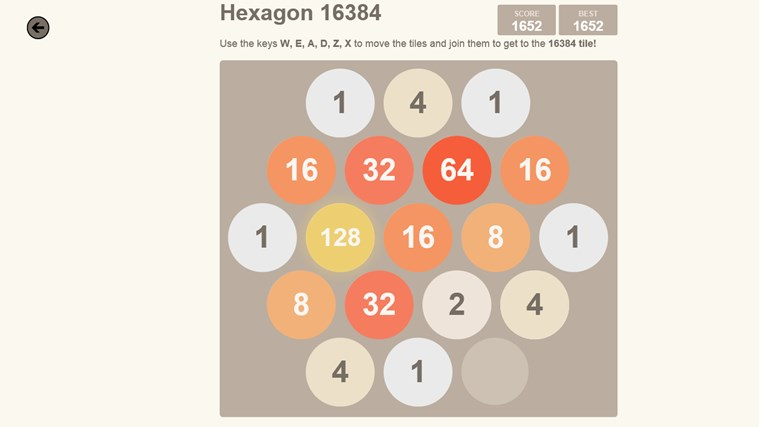 2048. screen shot 2