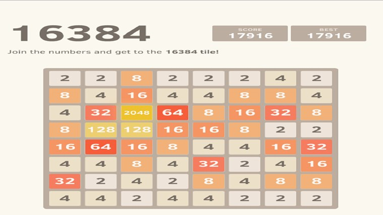 2048. screen shot 8