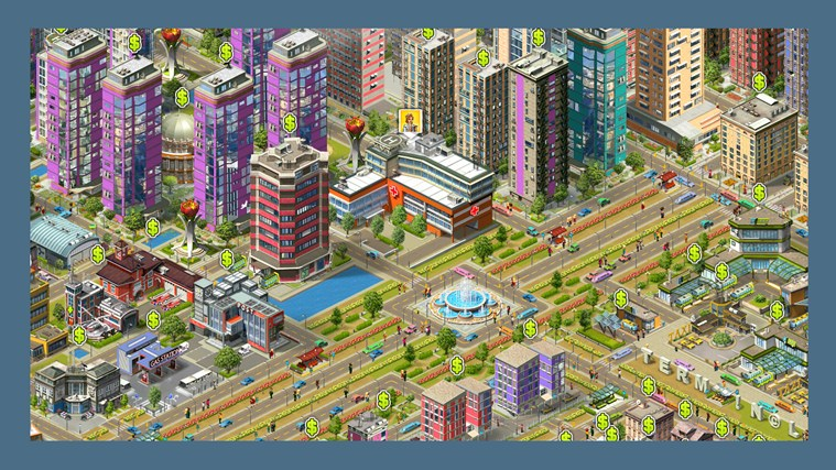 If you are tired from old-school construction games lacking real action, My Country is a city builder for you.