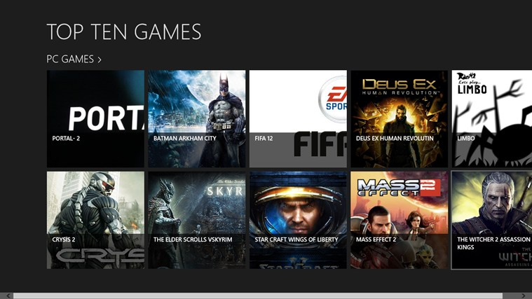windows game apps for windows 10