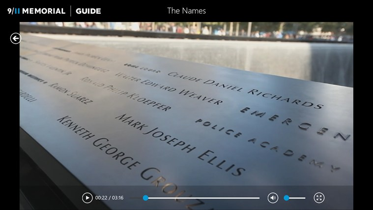 9/11 Memorial Guide screen shot 4
