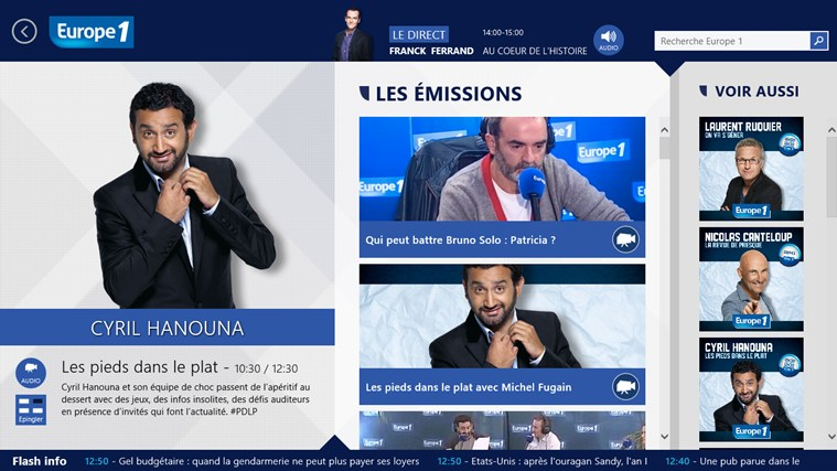 Europe 1 screen shot 2