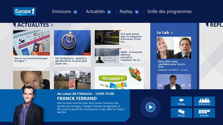 Europe 1 screen shot 6