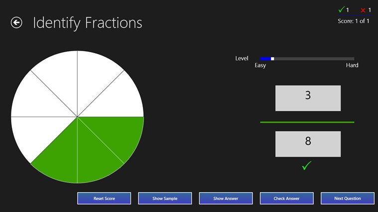 Fractions Practice screen shot 0