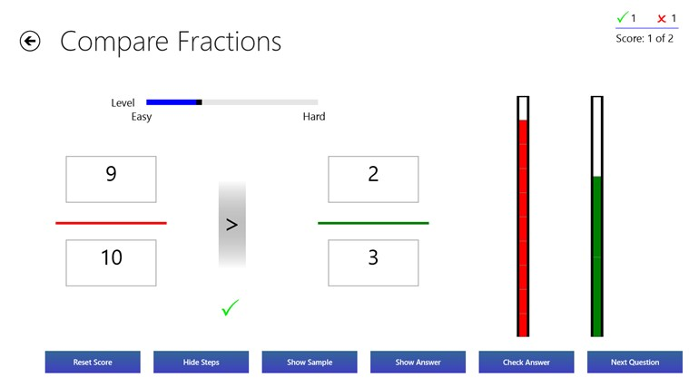 Fractions Practice screen shot 2