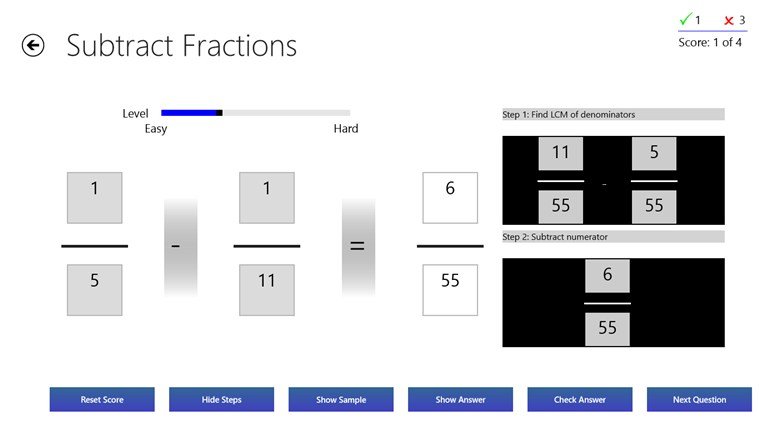 Fractions Practice screen shot 4