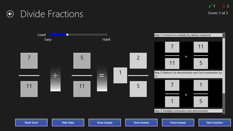 Fractions Practice screen shot 6