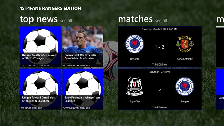 1st4Fans Rangers edition screen shot 0