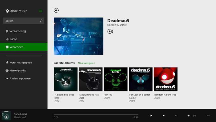 Muziek schermafbeelding 4