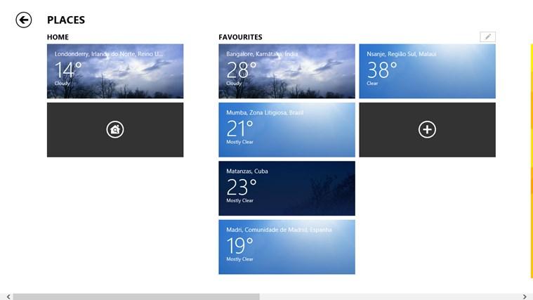 MSN Weather screen shot 6