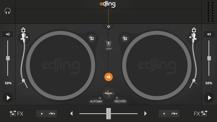 edjing - DJ mixer console studio - Play, Mix, Record & Share your sound! screen shot 0