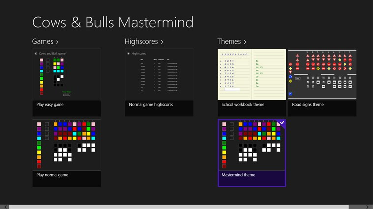 Cows & Bulls Mastermind screen shot 0
