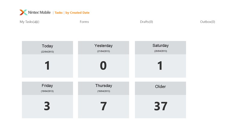 Nintex Mobile screen shot 2