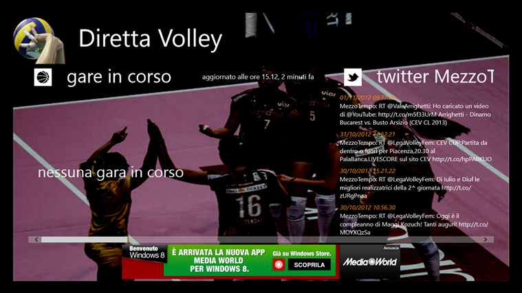 Diretta Volley screen shot 0