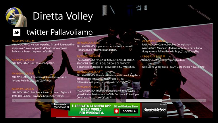 Diretta Volley screen shot 2