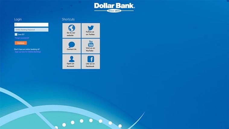 Dollar Bank screen shot 0