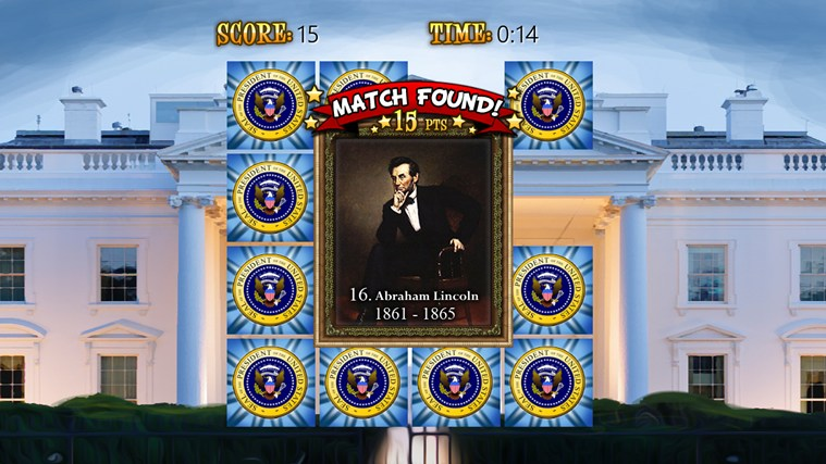 US Presidents (Match'Em Up™ History and Geography) screen shot 4