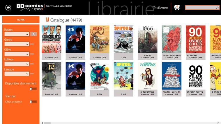 BD comics screen shot 2