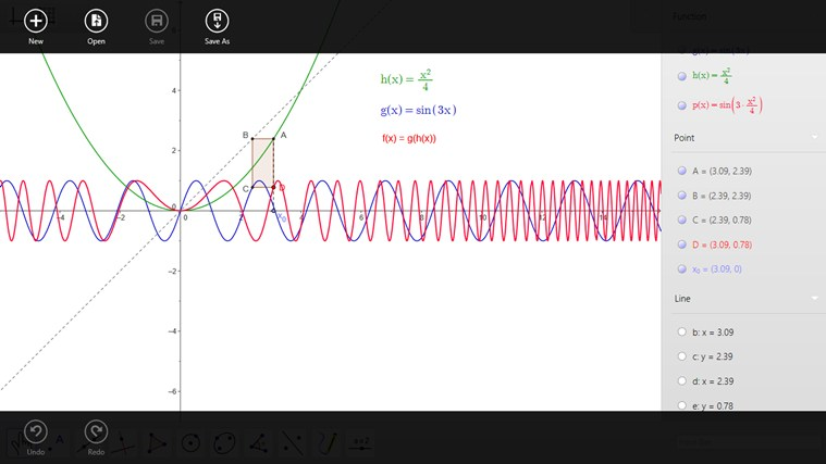 GeoGebra on Windows 8 screenshot