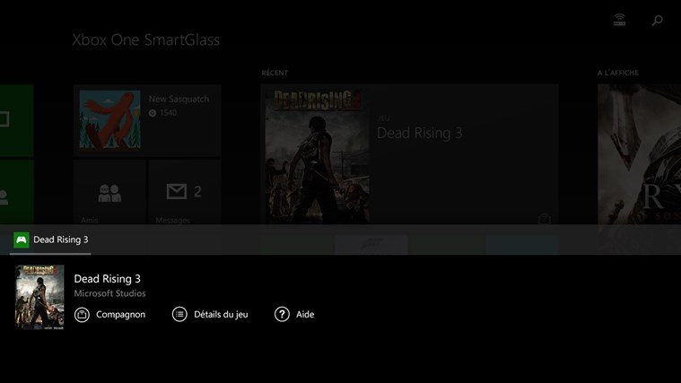 Xbox One SmartGlass capture d'écran 2