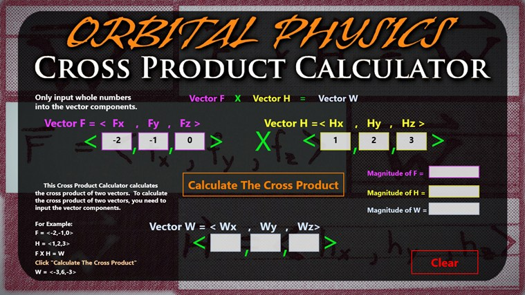 Cross Product Calculator screenshot 0