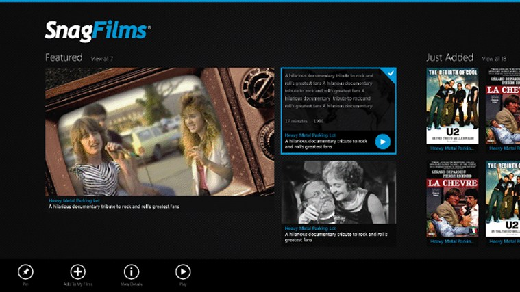 SnagFilms screen shot 0