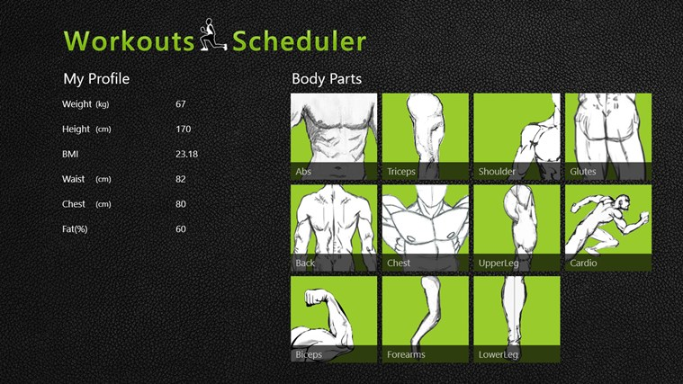 Workouts Scheduler screen shot 0