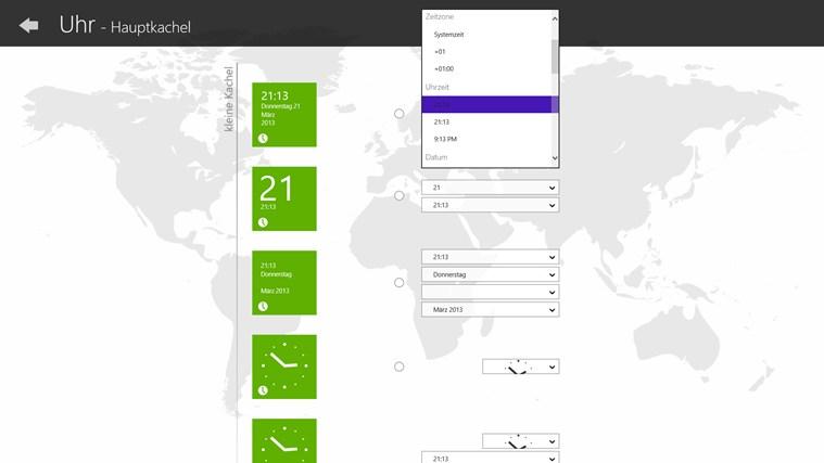 Uhr (Live Kachel, Wecker, Timer) Screenshot 4