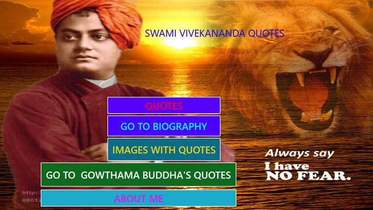 QUOTES OF SWAMI VIVEKANANDA screen shot 0
