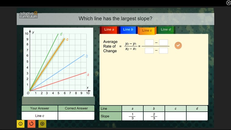 Algebra 1: Linearity, Slope, & Direct Variation screen shot 2