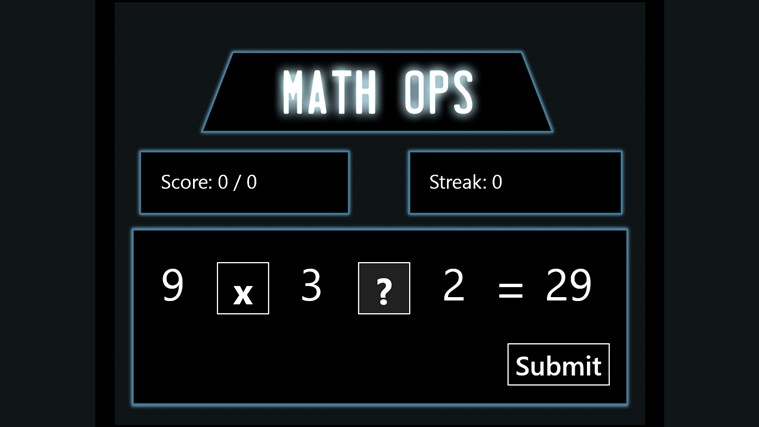 Math Ops full screenshot