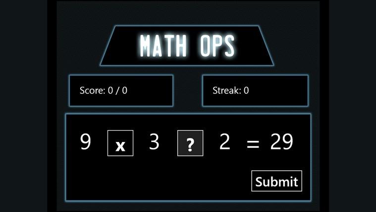 Math Ops screenshot